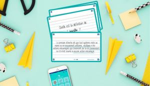 Flashcards and a mobile with SCRIBZEE app